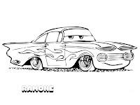 Mewarnai Ramone Dari Film Disney Cars