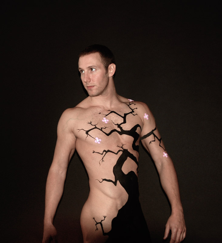 Remarkable, Nude painting body art will