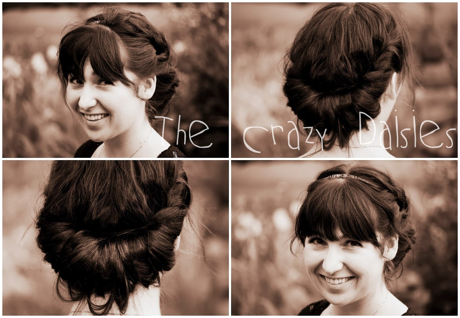 the headband updo step 1 place the headband over your #251914