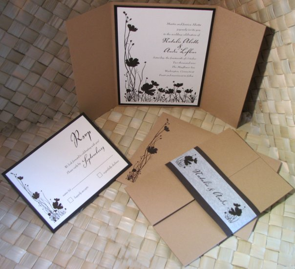 wedding invitations ideas jacket and pocket fold wedding With wedding invitations jacket pocket