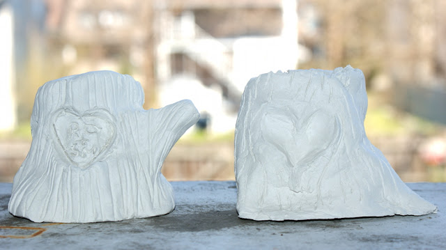 DIY Ring Holder - Handmade Clay Heart Ring Holder for Couples and Newlyweds - Great Homemade Wedding Gift Idea