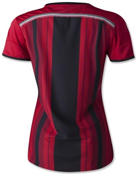 Kaos Bola Cewe Ac Milan Home 2014-2015 Serie A