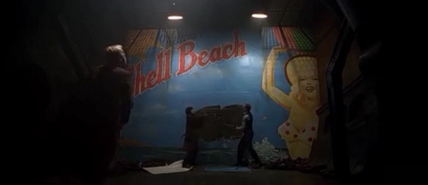 Shell Beach billboard Dark City 1998 movieloversreviews.blogspot.com