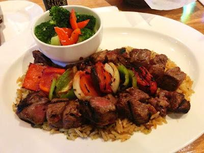 Steak Kabob at Texas Roadhouse at the Breeze Taipei