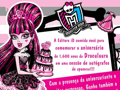 Evento da série Monster High da Editora iD em São Paulo
