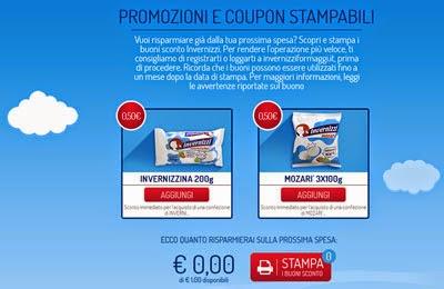 coupon sconto Invernizzi Mozarì Invernizzina