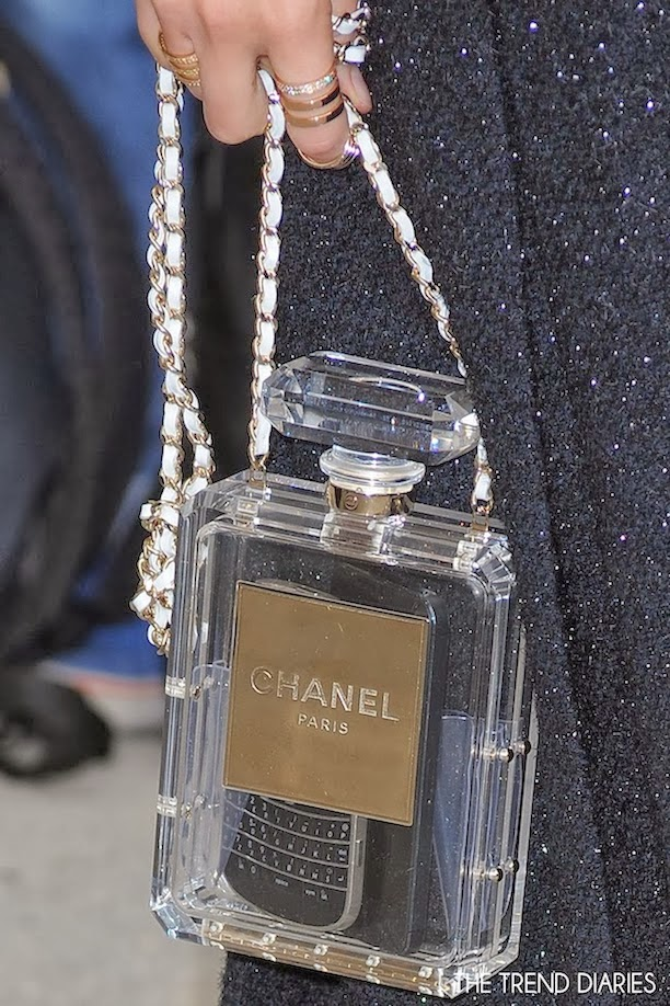 the terrier and lobster chanel cruise 2014 perfume bottle bag