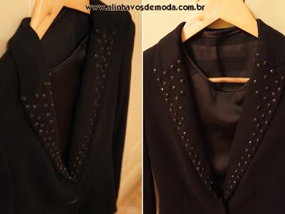 Eu fiz a customização da gola do blazer