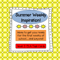 Summer Weekly Inspiration Linky - ELA Task Cards