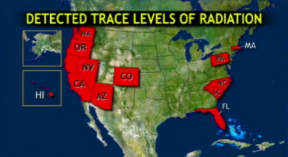 Four Sites Where You Can Monitor US Radiation Levels Arizona - Radiation map in us