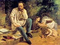 Pierre-Joseph Proudhon et ses Enfants by Gustave Courbet