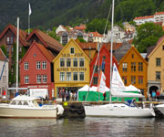 Wooden houses of Bryggen Norway