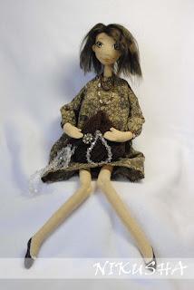 текстильная кукла модница