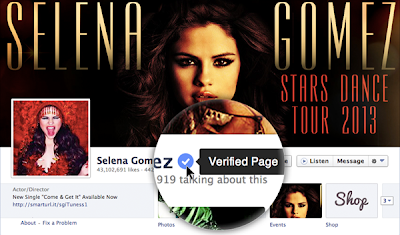 Selena Gomez Got Verified Mark On Facebook