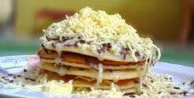 Resep Praktis (mudah) membuat makanan kue pancake coklat keju