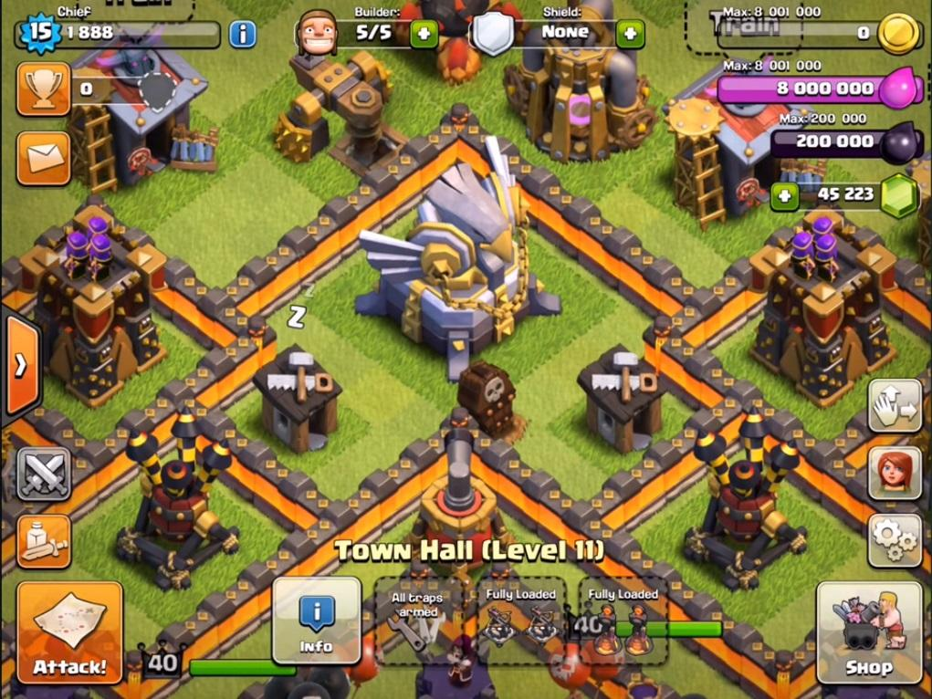 Mod Coc Update Terbaru TH 11 Unlimited Gems, Elixir and