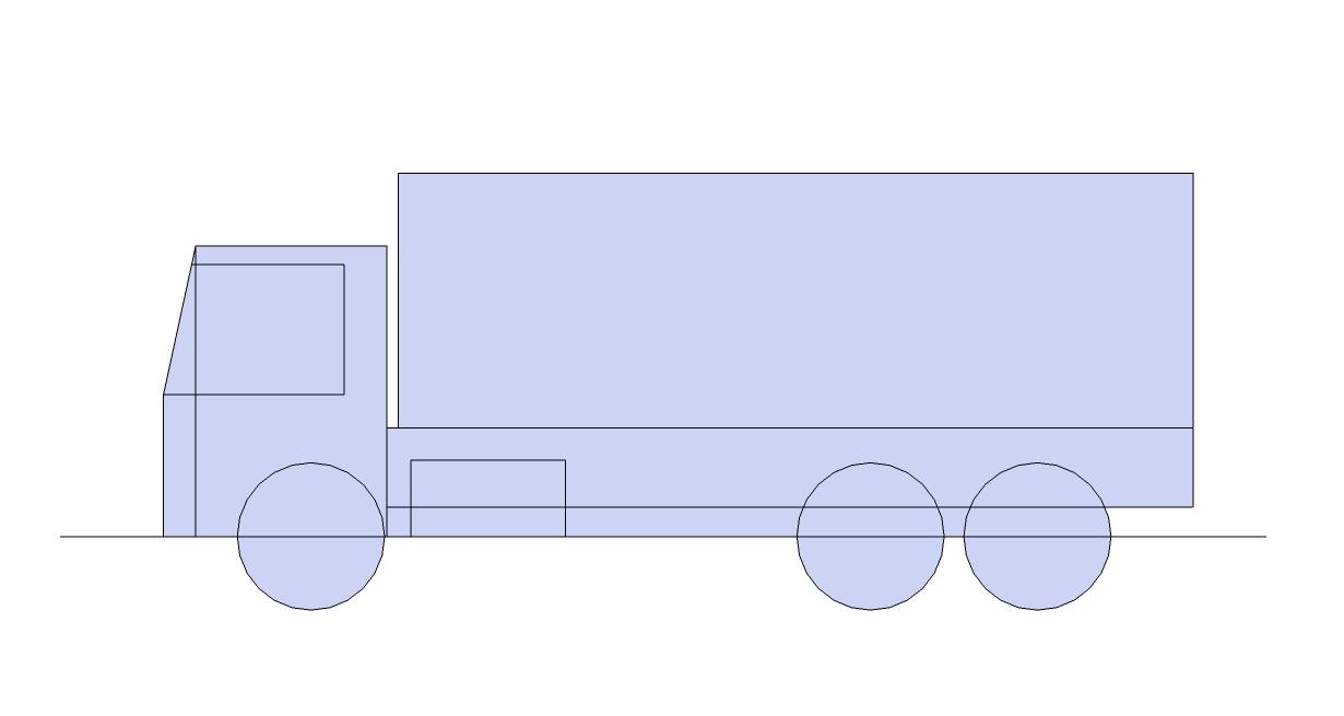 menggambar mobil tangki