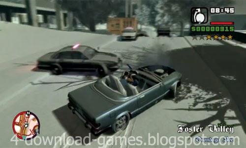 تحميل لعبة جاتا الجليد GTA IV San Andreas Snow Edition لعبة اكشن مجانا
