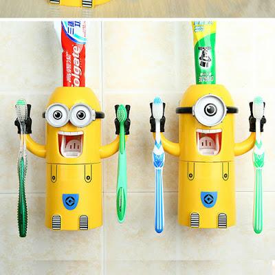 Minion porta spazzolini e porta dentifricio