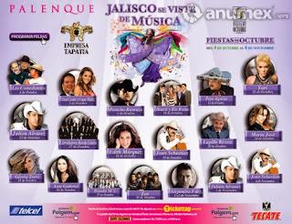 artistas del palenque Fiestas de Octubre Guadalajara 2014