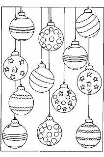 Símbolos de natal para colorir
