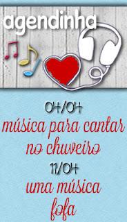 Imagem do banner da agendinha da Blogagem Coletiva Musical, 11/04/13, Música Fofa