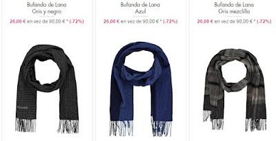 bufandas lana hombre