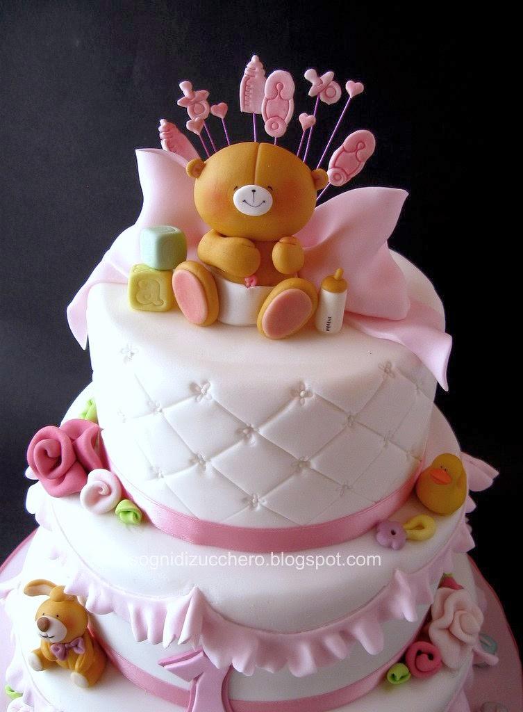 pastel de osito para baby