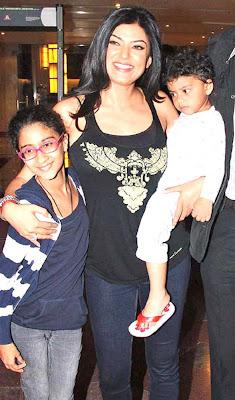 Celebrity Actress Sushmitha Sen adopted girl Kids Renee and Alisah