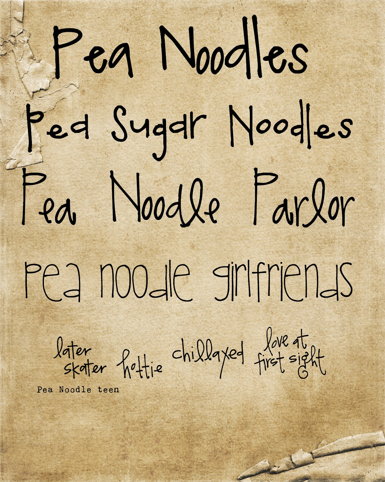 Handwriting Fonts For Crafts