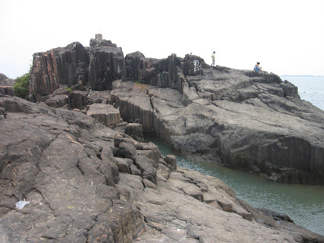 Basaltic Rock formation in St.Mary's Island