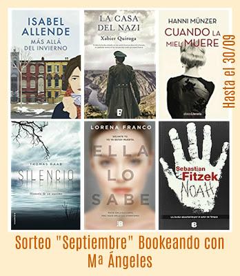 Sorteo en Bookeando con M.ª Ángeles (hasta 30/9)