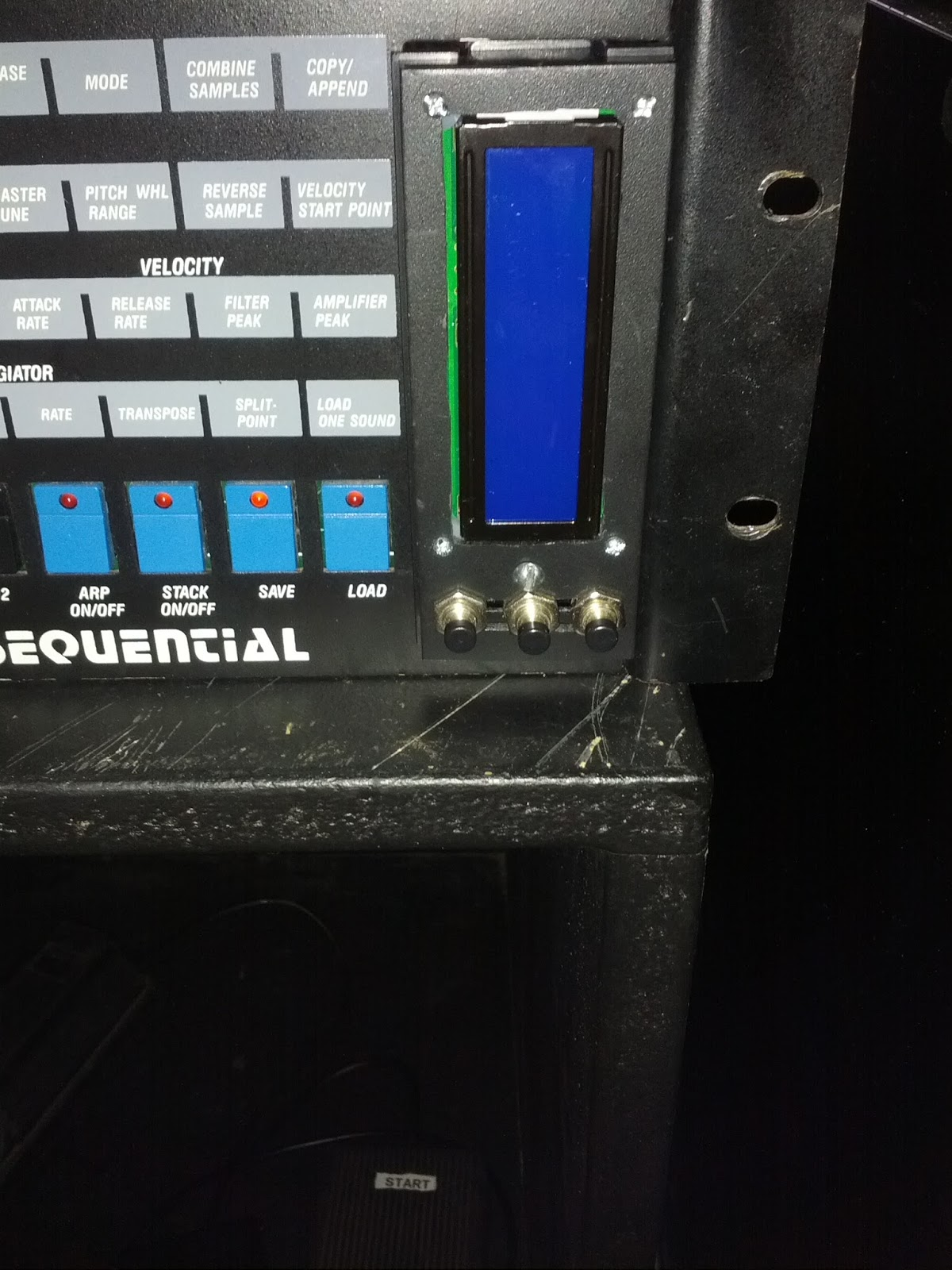 Sequential Circuits Prophet 2002 An Early 12 Bit Sampler With Negative Dual Power Supply Circuit Powersupplycircuit Lcd Enclosure Installed