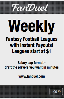 Weekly Fantasy Football