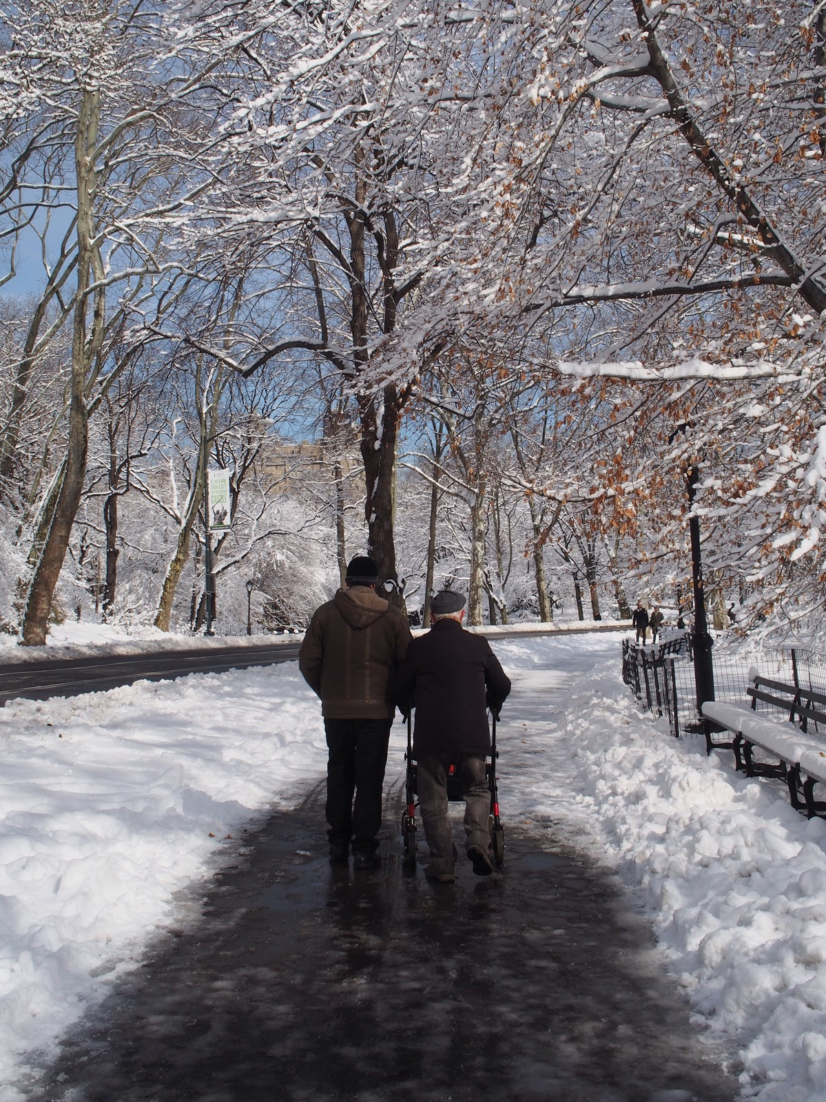 Out and About with a Little Help from a Friend, #centralpark #nyc #snow 2013
