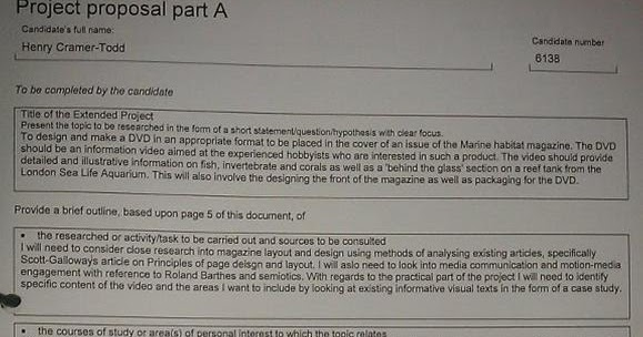 Aqa Extended Project 2 7 2012 3 Day Task