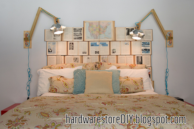 Hardwarestorediy Diy Bedside Lamps And Book Headboard 2