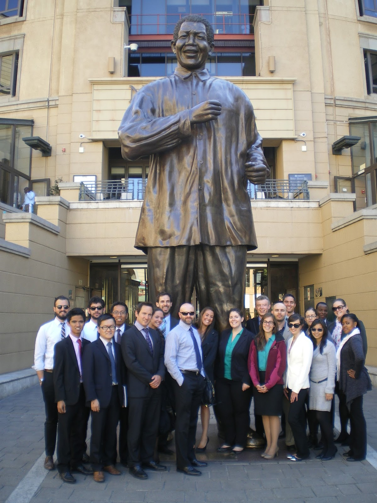 Fordham Iped Students Gather In Mandela Square After Visiting The  Johannesburg Stock Exchange Photo By Henry Schwalbenberg