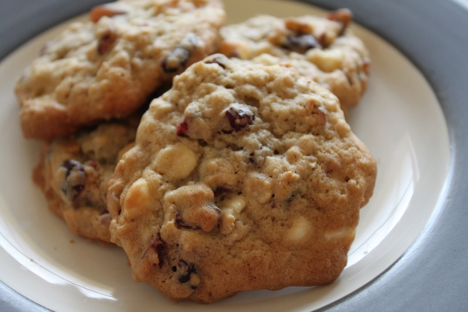 Oatmeal Cranberry White Chocolate Chunk Cookies | My Biscuits are ...
