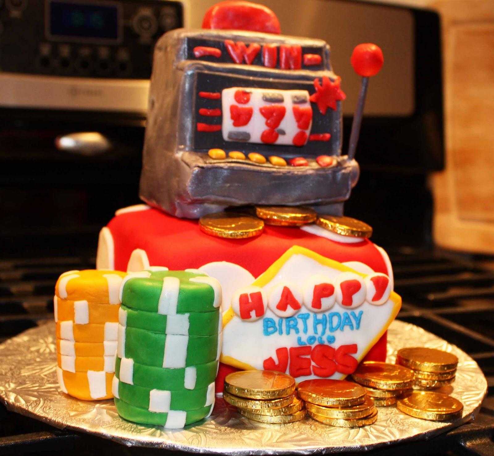 Happy Birthday Slot Machine Cake