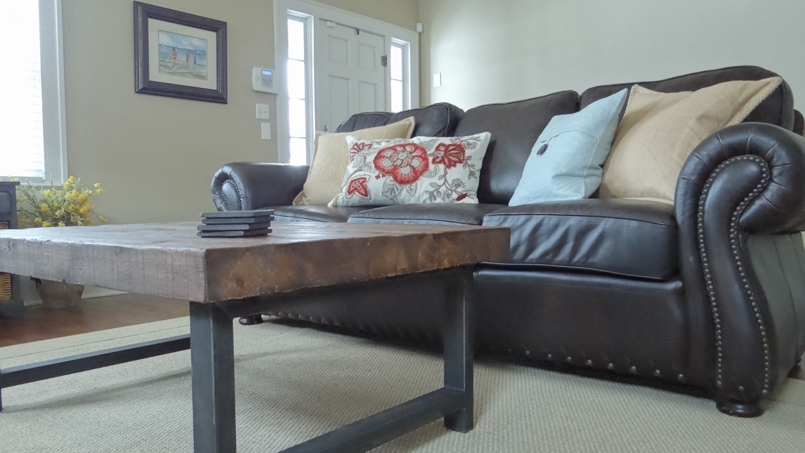 pottery barn griffin coffee table images