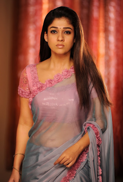 Actress Nayanthara Latest saree below navel show photos