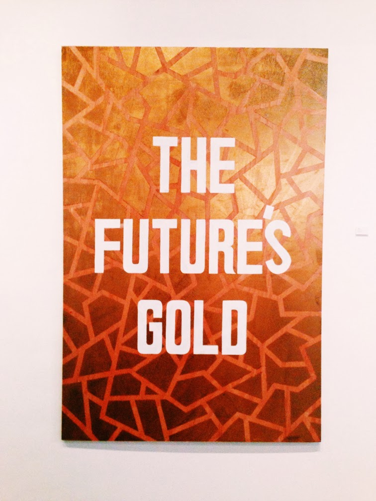 The Future's Gold by graphic artist Lakwena Wynwood Miami Art Basel 2013