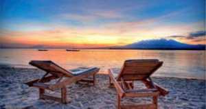 Panorama Sunset Gili Air Lombok