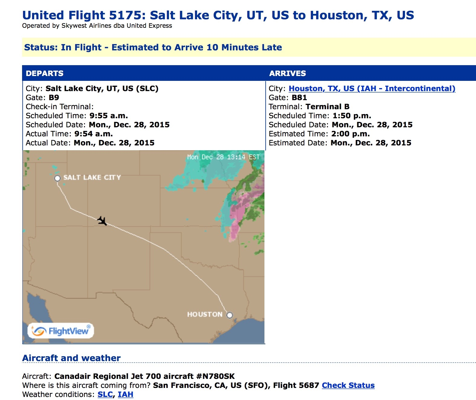 in the air salt lake city to houston to munich to warsaw
