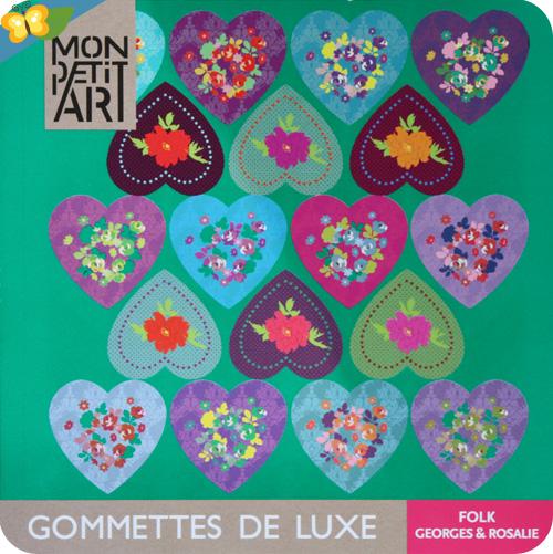 """gommettes de luxe """"Folk"""" Georges et Rosalie pour Mon petit art"""
