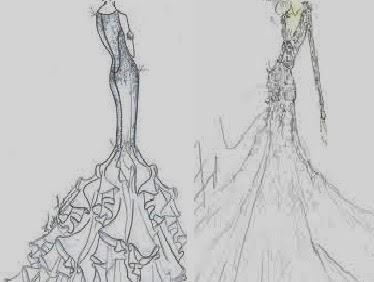 تصميم ملابس على الورق