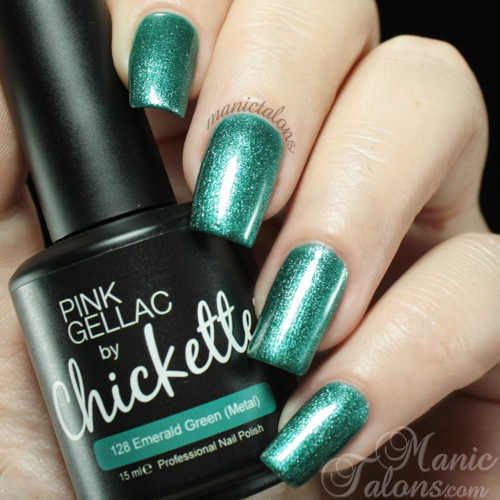 Pink Gellac by Chickettes Emerald Green Swatch