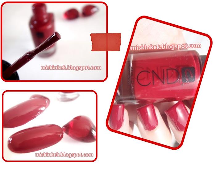 nail,nail polish,cnd,kirmizi oje,oje,kirmizi,red nail polish,swatch,swacth nail polish