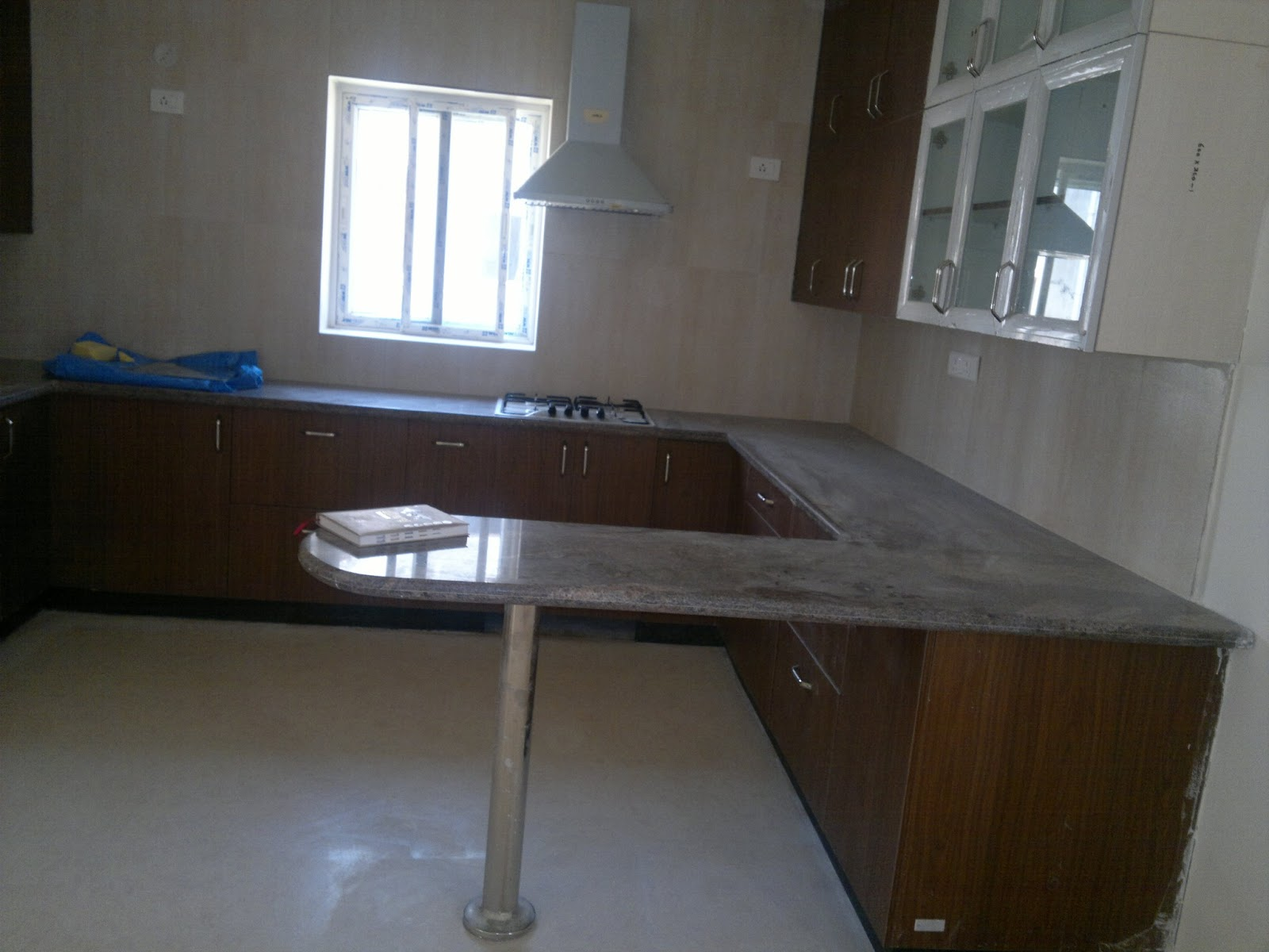 Interiors In Hyderabad Modular Kitchen Cost 2 8 Lakhs Including Granite Cladding And Breakfast